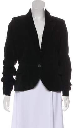 Alaia Peak-Lapel Suede Jacket