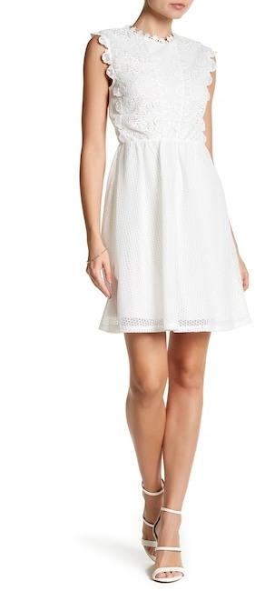 bebe Floral Lace Dress