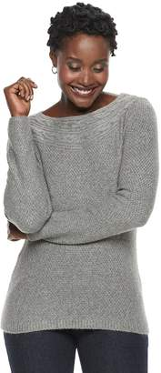 Croft & Barrow Women's Textured Boatneck Sweater