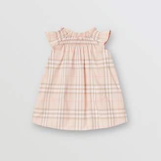 6a0b61f2dabd Burberry Childrens Smocked Vintage Check Cotton Dress