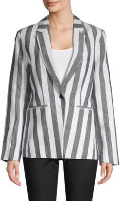 Saks Fifth Avenue Striped Linen Blazer