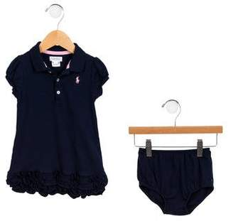 Ralph Lauren Girls' Ruffled Dress Set
