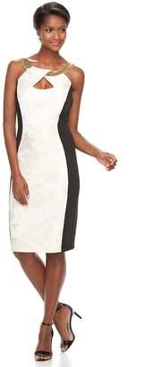 Jax Women's Colorblock Keyhole Sheath Dress