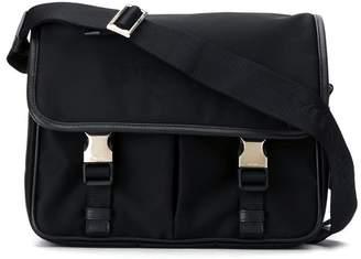 Prada buckled messenger bag