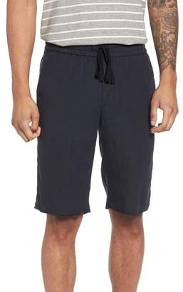 Vince Raw Hem Slim Fit Track Shorts