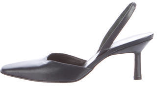 Vera Wang Leather Slingback Pumps $80 thestylecure.com