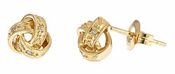Brian Danielle Yellow Gold Love Knot Studs