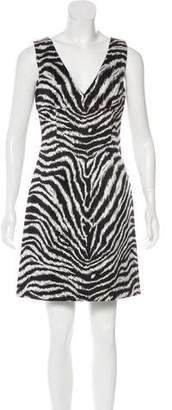 Michael Kors Sleeveless Tiger Print Dress