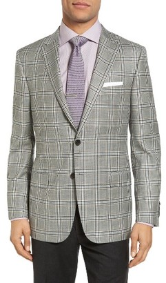 Men's Hickey Freeman Beacon Classic Fit Plaid Wool Sport Coat $1,295 thestylecure.com