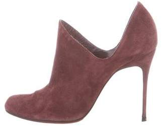 Christian Louboutin Suede Pointed-Toe Ankle Boots