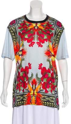 Givenchy Floral Print Short Sleeve Top