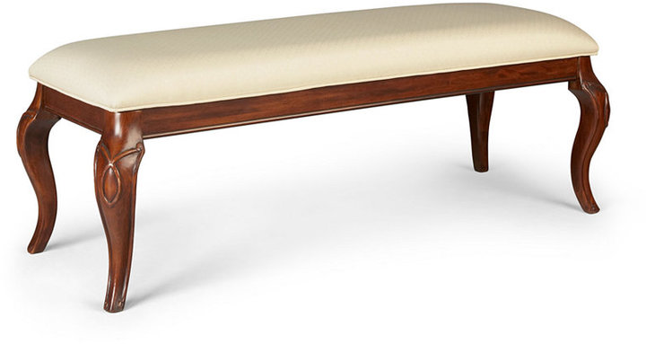 Trunks Bordeaux Louis Philippe-Style Upholstered Bench