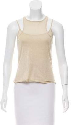 Chaiken Sleeveless Metallic Top