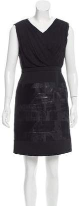 J. Mendel Surplice Brocade Dress