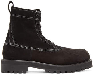 Undercover Black Contrast Stitch Boots