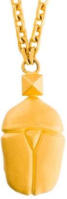 Valentino Scarab Pendant Necklace