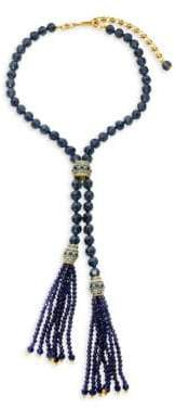 Heidi Daus Crystal & Bead Argyle Double Tassel Necklace