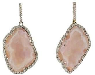 Kimberly McDonald 18K Geode & Diamond Drop Earrings