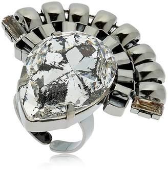 Halo & Co Chain Ring W/ Swarovski Crystals