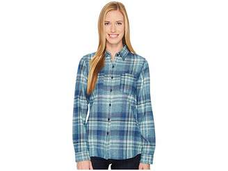 The North Face Long Sleeve Willow Creek Flannel Women's Long Sleeve Button Up