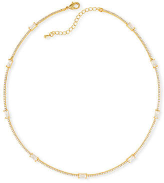 Fallon Baguette Bar Collar Necklace