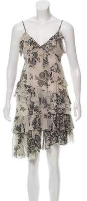 Galliano Floral A-Line Dress