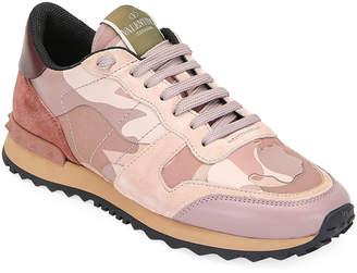 Valentino Garavani Rockrunner Camo Lace-Up Sneakers