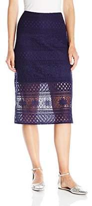 Paris Sunday Women's Striped Lace Skirt