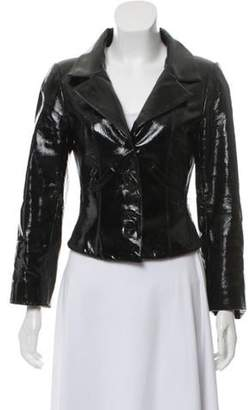Chanel Structured Patent Leather Jacket Black Structured Patent Leather Jacket
