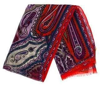 Etro Printed Silk Scarf w/ Tags