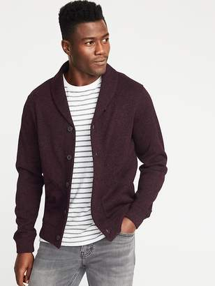 Old Navy Shawl-Collar Sweater-Fleece Cardigan for Men
