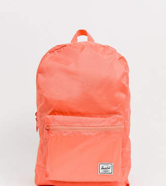 Herschel Daypack Packable neon coral festival backpack