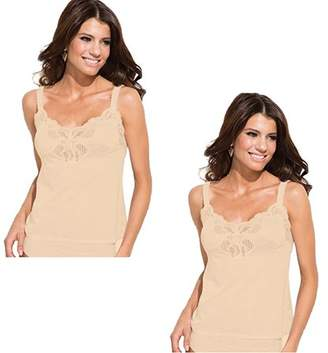 Under Moments Women's Camisole w/Lace Accents (Pack of 2)