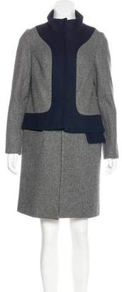 Lela Rose Wool Knee-Length Coat