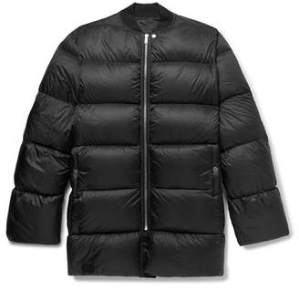 Rick Owens Oversized Quilted Nylon Down Jacket