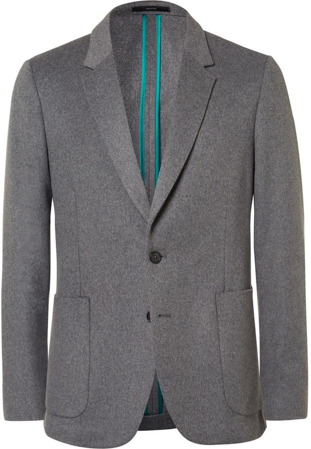 Paul SmithPaul Smith Grey Soho Slim-Fit Wool and Cashmere-Blend Blazer