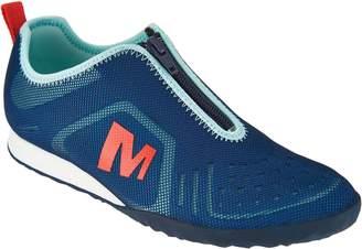 Merrell Mesh Zip-Up Slip-on Sneakers - Civet Zip
