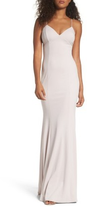 Women's Katie May Stretch Crepe Gown $295 thestylecure.com