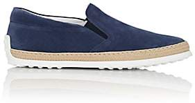 Tod's Men's Pantofola Suede Espadrille Sneakers - Blue