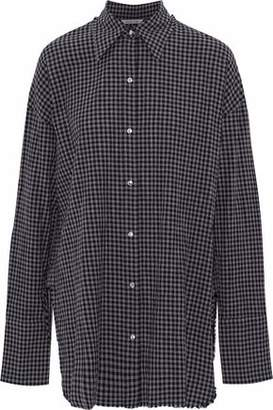 Helmut Lang Gingham Cotton And Wool-Blend Shirt