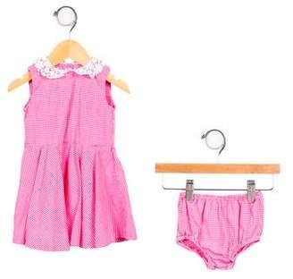 Ralph Lauren Girls' Gingham Printed Dress Set