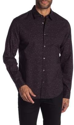 John Varvatos Skull Print Long Sleeve Regular Fit Shirt