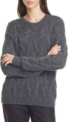 Eileen Fisher Crewneck Wool Blend Sweater