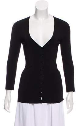 Dolce & Gabbana Long Sleeve V-Neck Cardigan