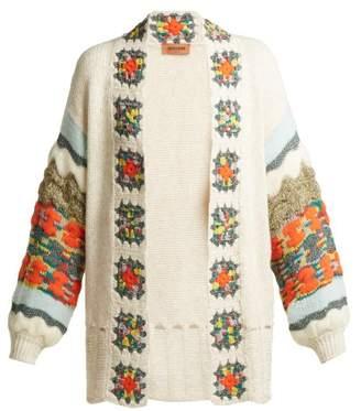 Missoni Crochet Trimmed Cardigan - Womens - Cream Multi