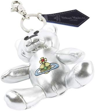 Vivienne Westwood Silver Leather Bag charms