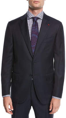 Isaia Solid Wool Two-Piece Suit