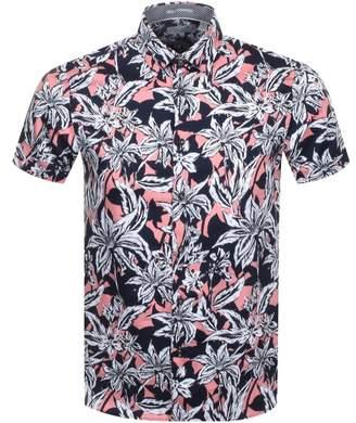 Ted Baker Short Sleeved Octapss Shirt Navy