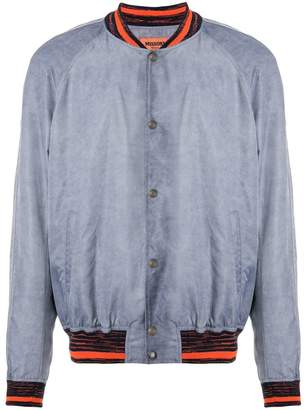 Missoni stripe trim bomber jacket