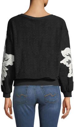 Stellah Lace-Patch Oversized Sweatshirt